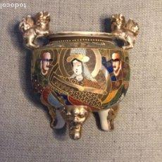 Antigüedades: MACETERO, ÁNFORA O RECIPIENTE DE PORCELANA DE SATSUMA. S.XIX.. Lote 264076370