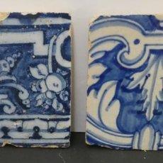 Antiquités: CONJUNTO DE DOS BALDOSAS SEVILLANAS XVIII. Lote 264150036