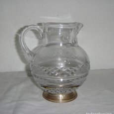 Antiquités: JARRA DE CRISTAL DE BACCARAT Y PLATA (CON CONTRASTES). Lote 264166388