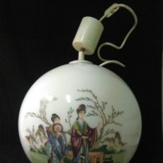 Antigüedades: ANTIGUA LAMPARA DE CRISTAL OPALINA ,DE CARÁCTER ORIENTAL , GLOBULAR. Lote 264167232