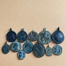 Antiguidades: LOTE DE ANTIGUAS MEDALLAS RELIGIOSAS SIGLOS XVII - XVIII.. Lote 264189912