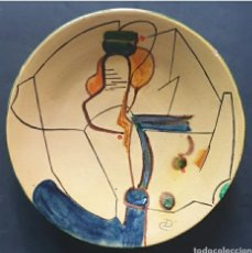 Antigüedades: PLATO CERÁMICA CATALANA DEL PINTOR Y CERAMISTA EUSEBIO DÍAZ COSTA 1908 - 1964. Lote 264232628