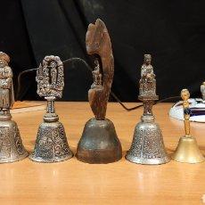 Antigüedades: LOTE DE 7 CAMPANAS SANTOS Y VIRGENES. Lote 264302564