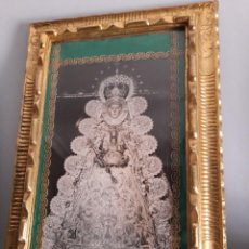 Antigüedades: CUADRO FOTOGRAFIA ANTIGUA VIRGEN DEL ROCIO. Lote 53684706