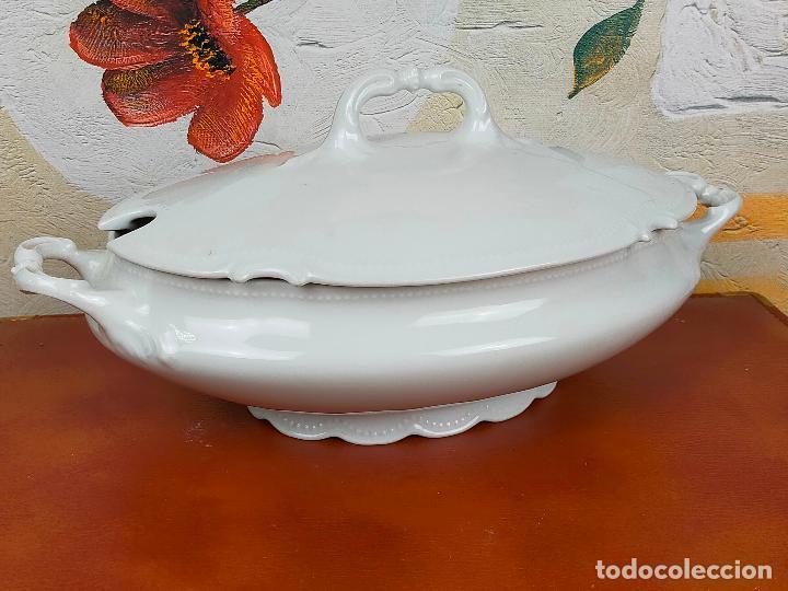 SOPERA EN PORCELANA LIMOGES SELLADA (Antigüedades - Porcelana y Cerámica - Francesa - Limoges)