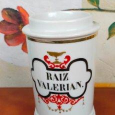 Antigüedades: TARRO FARMACIA ALBARELO RAIZ VALERIAN. Lote 264349639
