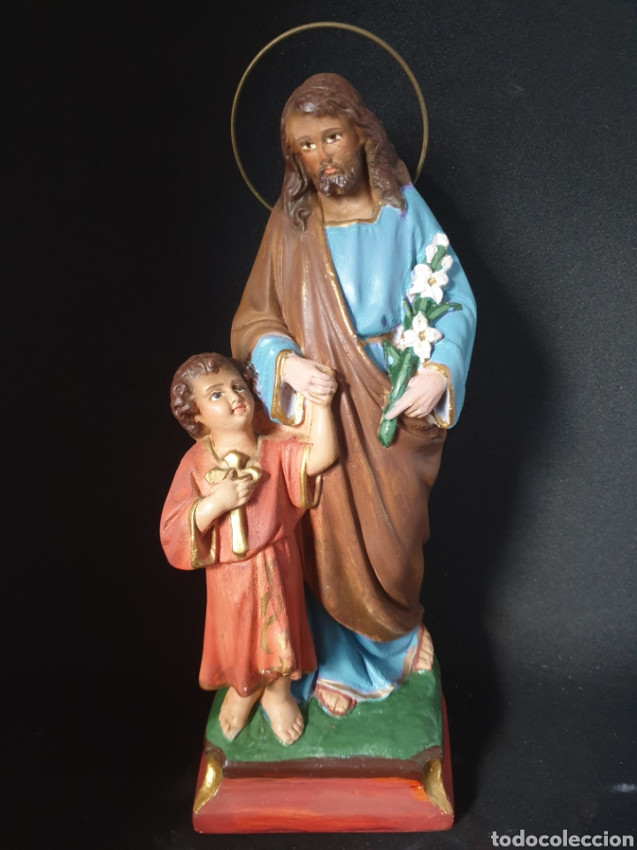 Antigüedades: Antigua figura religiosa - Foto 2 - 276225443