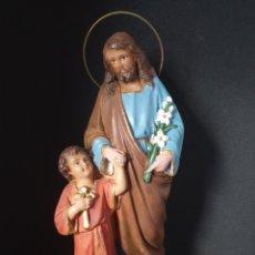 Antigüedades: ANTIGUA FIGURA RELIGIOSA. Lote 276225443