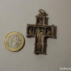 Antigüedades: CRUZ ORTODOXA DE PLATA MACIZA, GRUESA, RELIEVES, 50 X 31 X 6 MM, 28,7 GRAMOS, BUEN ESTADO. Lote 264445764
