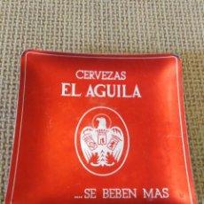 Antigüedades: CENICERO ANTIGUO CERVEZAS EL AGUILA. Lote 264498509