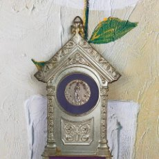 Antigüedades: PRECIOSA BENDITERA PLATEADA. Lote 264511014