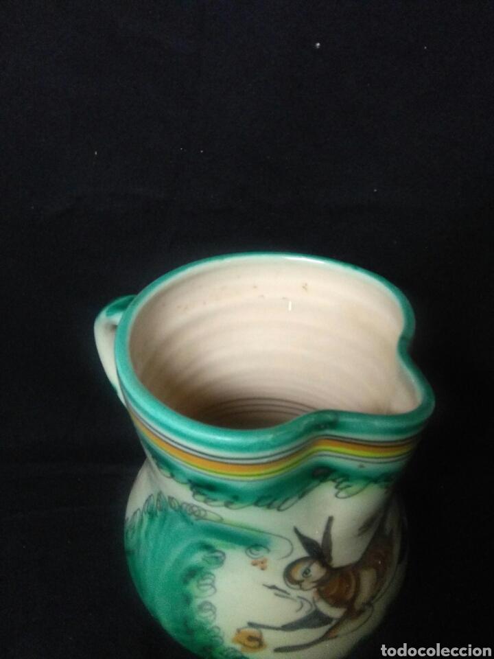 Antigüedades: Antigua ceramica siglo XIX ,jarron punte del arzobispo ,jarron figurado - Foto 9 - 264523574