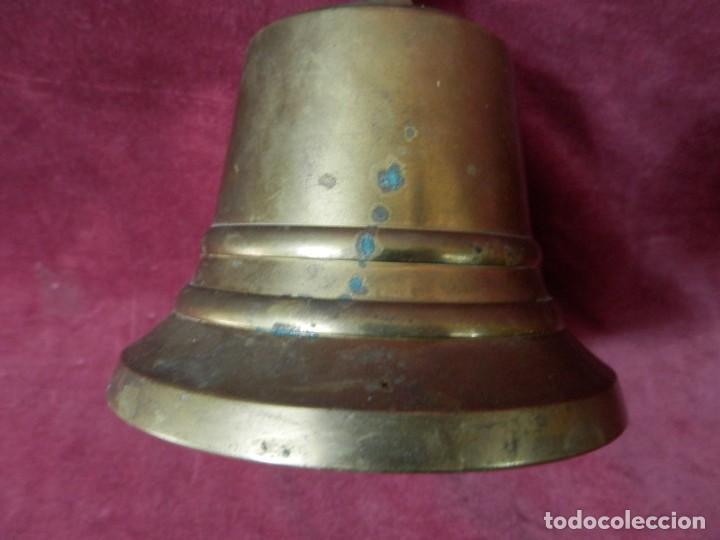 Antigüedades: CAMPANA DORADA 10 X 10 CENTIMETROS. CAMPANA PARA COLGAR - Foto 3 - 264567294