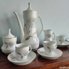 Antigüedades: JUEGO DE CAFÉ VINTAGE. SANTA CLARA, MAH VIGO. Lote 264756179