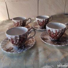 Antigüedades: LOTE DE 4 SERVICIOS DE CAFÉ DE PORCELANA ANCIENT TOWERS JOHNSON BROS MADE IN ENGLAND.8 PIEZAS. Lote 264783234