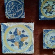 Antiquités: CUATRO AZULEJOS DE TRIANA DE SIGLO XVII-XVIII. Lote 264813584