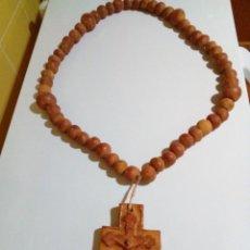 Antigüedades: ENORME CRUCIFICO DE PIEDRA TALLADA. Lote 264956004