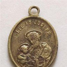 Antigüedades: ANTIGUA MEDALLA RELIGIOSA. SAN JOSÉ Y VIRGEN CON NIÑO (SIGLO XIX). Lote 264974509