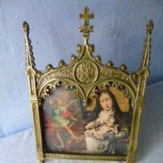 Antiguidades: BONITO MARCO DE BRONCE RELIGIOSO. Lote 264974714