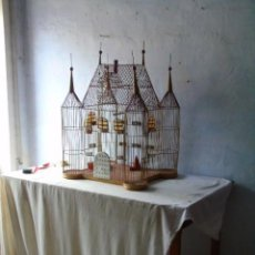 Antigüedades: ENORME JAULA CASTILLO MUY PRECIOSA. Lote 264976439