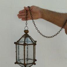 Antigüedades: ANTIGUA LAMPARA FAROL DE TECHO.. Lote 265136809