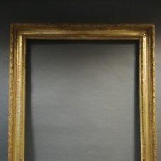 Oggetti Antichi: MARCO DE MADERA CON PAN DE ORO SIGLO XIX. Lote 265150809