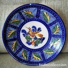 Antigüedades: ANTIGUO PLATO DE CERÁMICA DE TALAVERA, MANISES. Lote 265168554