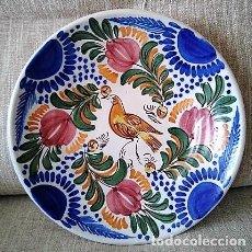 Antigüedades: ANTIGUO PLATO DE CERÁMICA DE TALAVERA, MANISES. Lote 265169099