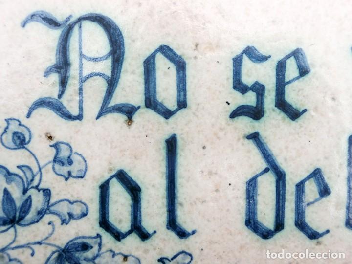 Antigüedades: CURIOSO Y ORIGINAL AZULEJO - NO SE VENDE AL DETALL - CERÁMICA ENMARCADA - TIENDA - TALLER - RARO - Foto 3 - 265172494