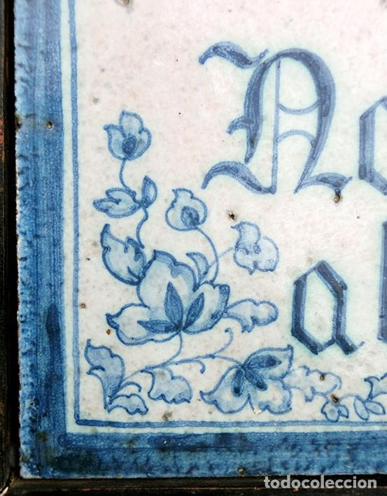Antigüedades: CURIOSO Y ORIGINAL AZULEJO - NO SE VENDE AL DETALL - CERÁMICA ENMARCADA - TIENDA - TALLER - RARO - Foto 7 - 265172494