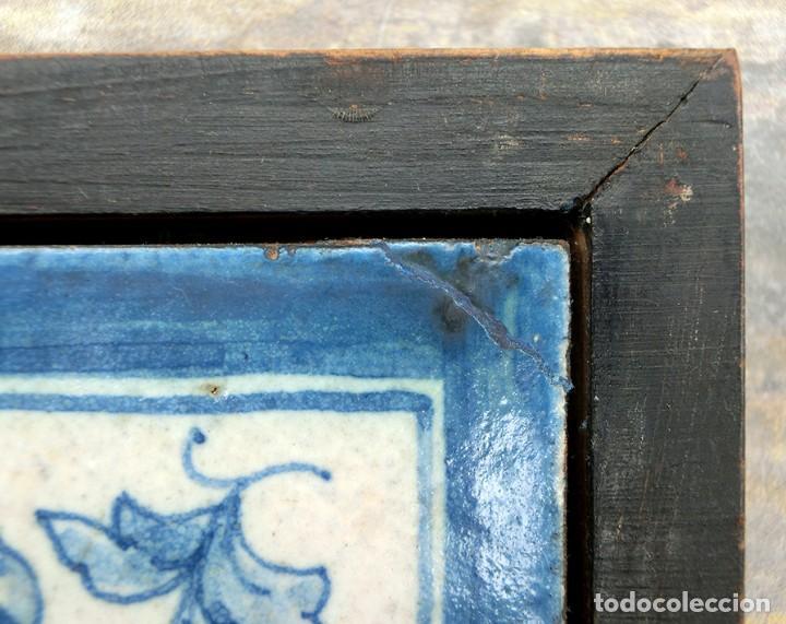 Antigüedades: CURIOSO Y ORIGINAL AZULEJO - NO SE VENDE AL DETALL - CERÁMICA ENMARCADA - TIENDA - TALLER - RARO - Foto 9 - 265172494