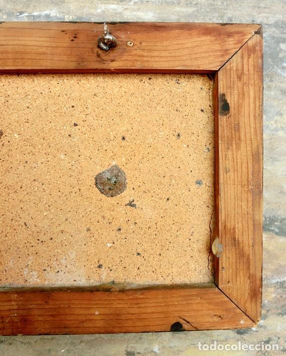Antigüedades: CURIOSO Y ORIGINAL AZULEJO - NO SE VENDE AL DETALL - CERÁMICA ENMARCADA - TIENDA - TALLER - RARO - Foto 10 - 265172494