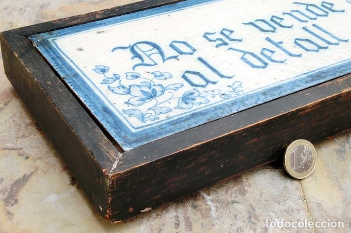 Antigüedades: CURIOSO Y ORIGINAL AZULEJO - NO SE VENDE AL DETALL - CERÁMICA ENMARCADA - TIENDA - TALLER - RARO - Foto 13 - 265172494