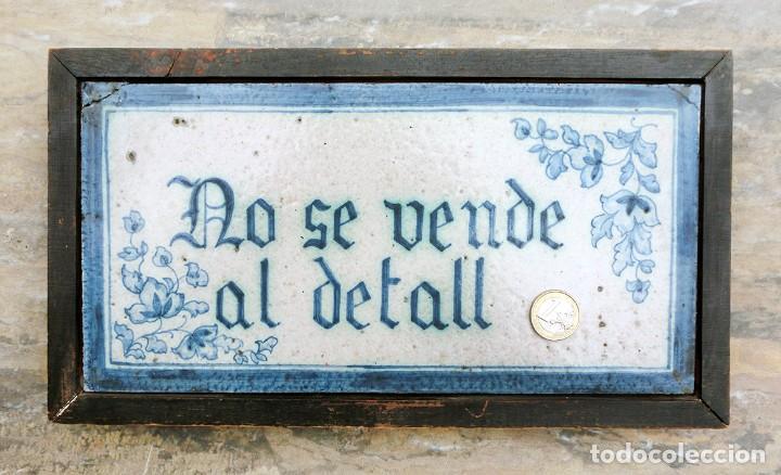 Antigüedades: CURIOSO Y ORIGINAL AZULEJO - NO SE VENDE AL DETALL - CERÁMICA ENMARCADA - TIENDA - TALLER - RARO - Foto 15 - 265172494