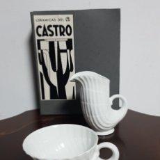 Antiquités: JUEGO PARA CAFÉ PORCELANA CASTRO/GALICIA. Lote 265177224