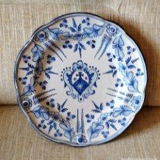 Antigüedades: ANTIGUO PLATO TALAVERA NIVEIRO. Lote 265189744