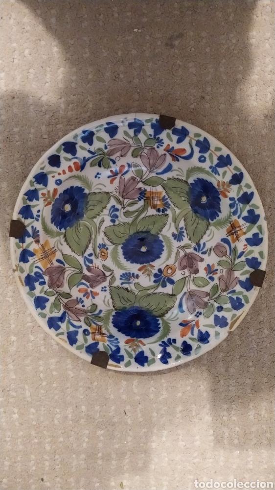 Antigüedades: Manises plato siglo XIX - Foto 2 - 265324789
