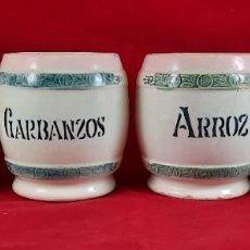 Antigüedades: BUCAROS , TARROS , BOTES DE COCINA - MANISES. Lote 265345234
