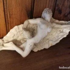 Antigüedades: CENICERO ESCULTURA MUJER DESNUDA. Lote 265412639