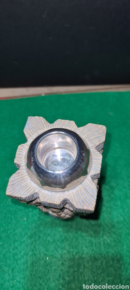 Antigüedades: Precioso candelabro, portavela. Con plata. - Foto 5 - 265438314