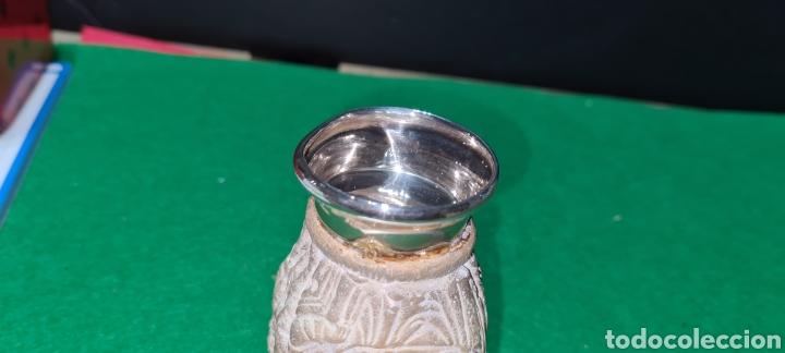 Antigüedades: Precioso candelabro, portavela. Con plata. - Foto 11 - 265438314
