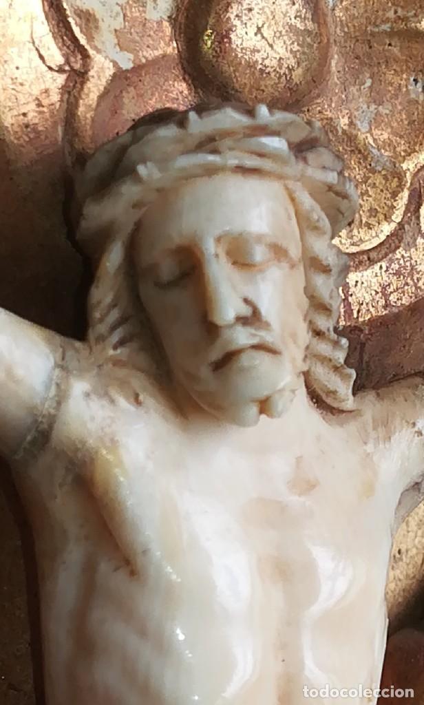Antigüedades: Precioso crucifijo Cristo marfil siglo XIX, Cruz. - Foto 3 - 265517759