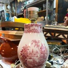 Antigüedades: BONITA LAMPARA CERAMICA LA CARTUJA PICKMAN - MEDIDA 28 CM. Lote 265547629