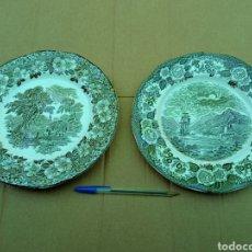 Antigüedades: 2 PLATOS LOCHS OF SCOTLAND.. Lote 265569409