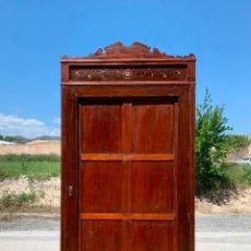 Antigüedades: ANTIGUO Y ALTISIMO ARMARIO DE MADERA DE MOBILA VIEJA - 257 CM. DE ALTURA - LEAN DESCRIPCION. Lote 265572514