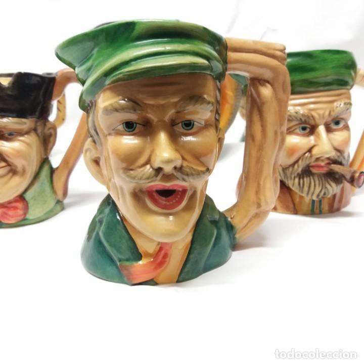 Antigüedades: Gran lote de jarras artesanales AR.CE.MI, Manises, Made in Spain, hechas a mano - Foto 2 - 265648254