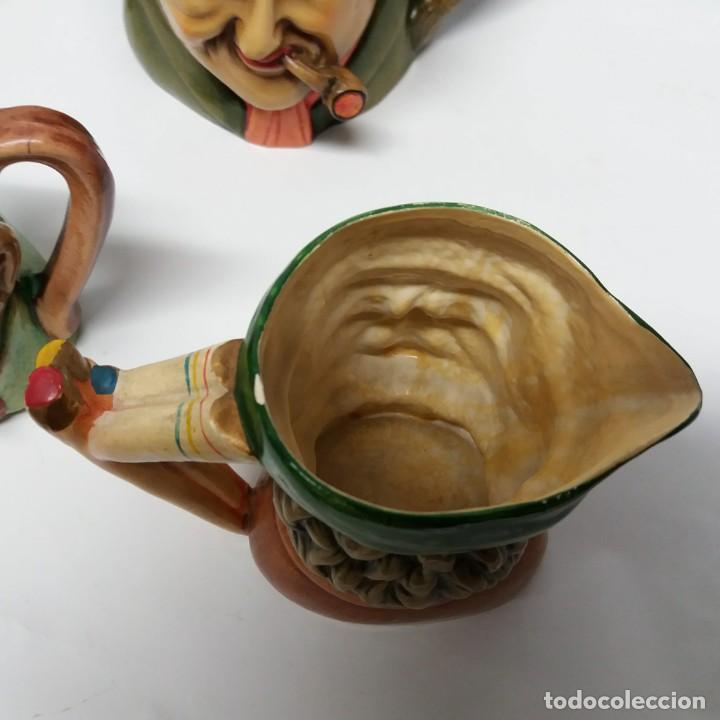 Antigüedades: Gran lote de jarras artesanales AR.CE.MI, Manises, Made in Spain, hechas a mano - Foto 7 - 265648254