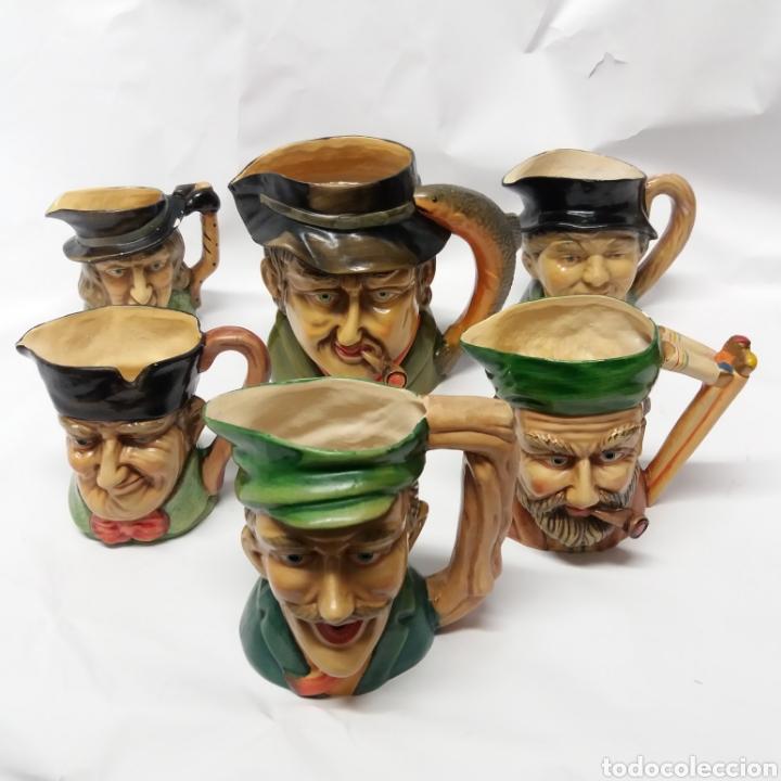 GRAN LOTE DE JARRAS ARTESANALES AR.CE.MI, MANISES, MADE IN SPAIN, HECHAS A MANO (Antigüedades - Porcelanas y Cerámicas - Manises)