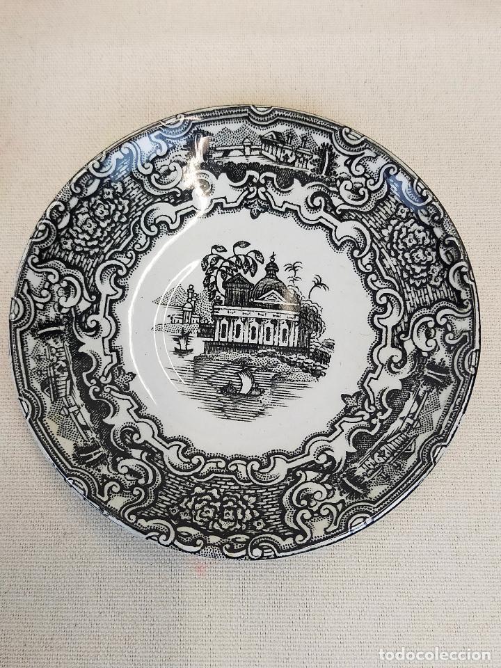 Antigüedades: antiguo juego de cafe de 6 tazas y seis platos, sellados pickman - Foto 3 - 265681414