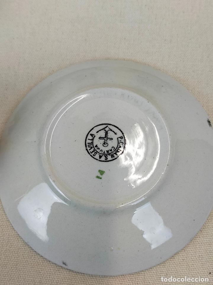 Antigüedades: antiguo juego de cafe de 6 tazas y seis platos, sellados pickman - Foto 4 - 265681414